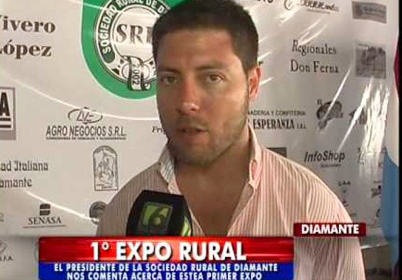 Se accidentó el Presidente de la Sociedad Rural de Diamante