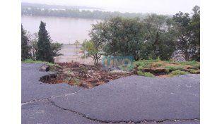La lluvia causó otro deslizamiento de barrancas en el Parque Urquiza