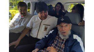 Fidel Castro y Maduro le dieron una sorpresa a Evo Morales en La Habana