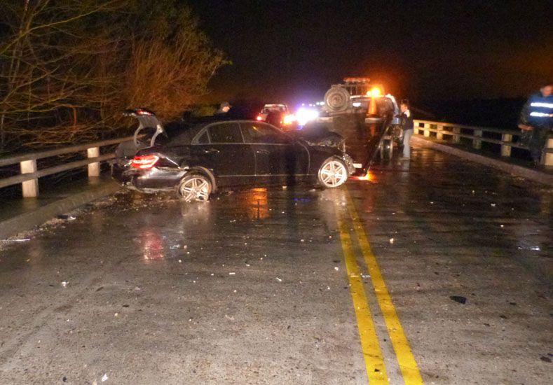 Un accidente sobre el puente La Ensenada mantuvo la ruta 11 cortada