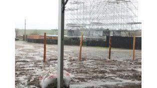 La continuidad de las precipitaciones afectó el predio en el Acceso Norte