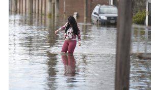 La peor inundación que sufrió el pueblo. Tras pasar por lo que se cree que es el pico máximo de agua que invadió la localidad