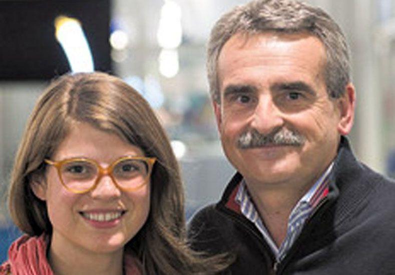 María Delfina Rossi y su padre