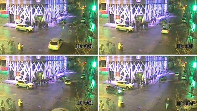 Video: atropelló a un policía y lo llevó cuatro cuadras en el capot