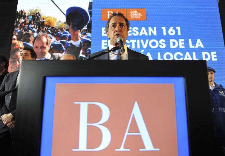 Scioli compartió un acto con Aníbal Fernández