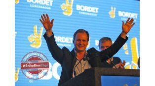 Mesurado. Al momento del festejo  Bordet habló de sumar a quienes disputaron la interna y perdieron. Foto UNO/Diego Arias