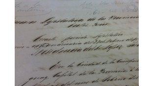Histórica. Acta de la elección legislativa provincial de 1863.