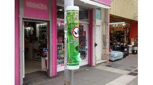 Dispensers en Peatonal. (Foto: Diario Río Uruguay)