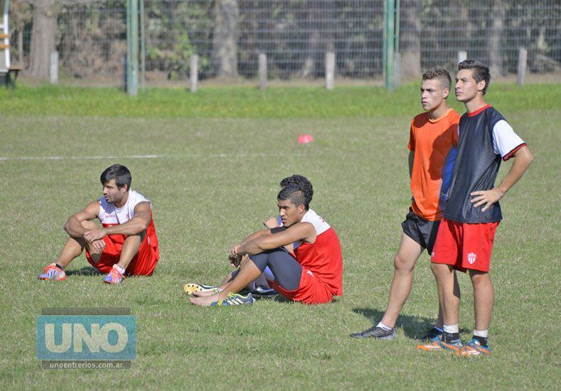 Ignacio Arce no entrenó ayer por una molestia en su rodilla derecha. Foto UNO/Mateo Oviedo