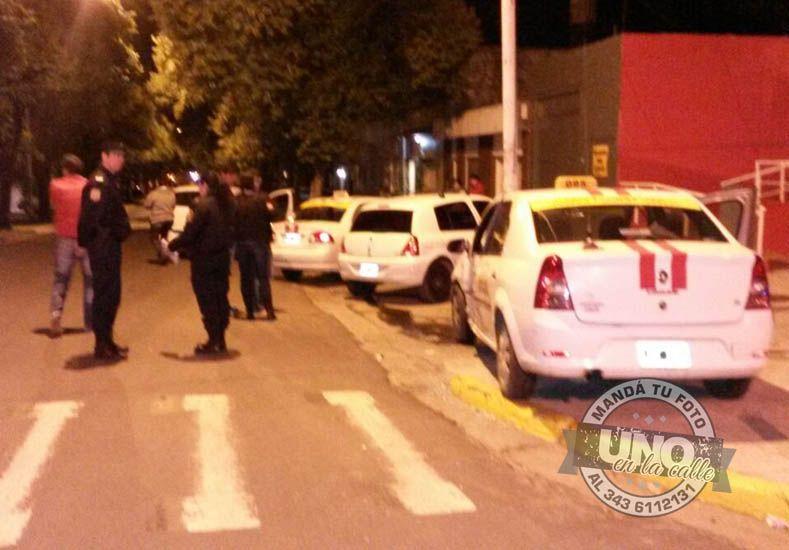 #UNOenLaCalle: así quedó un taxi