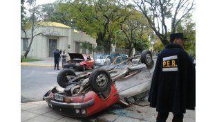 Dos heridos tras un choque en la esquina de la escuela Centenario de Paraná