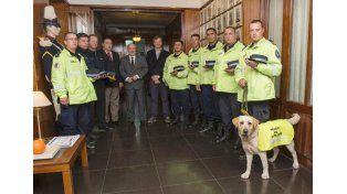 El gobierno destacó la labor del perro Moro