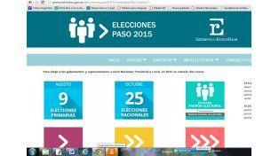 La página web del gobierno provincial ya cuenta con información sobre las elecciones