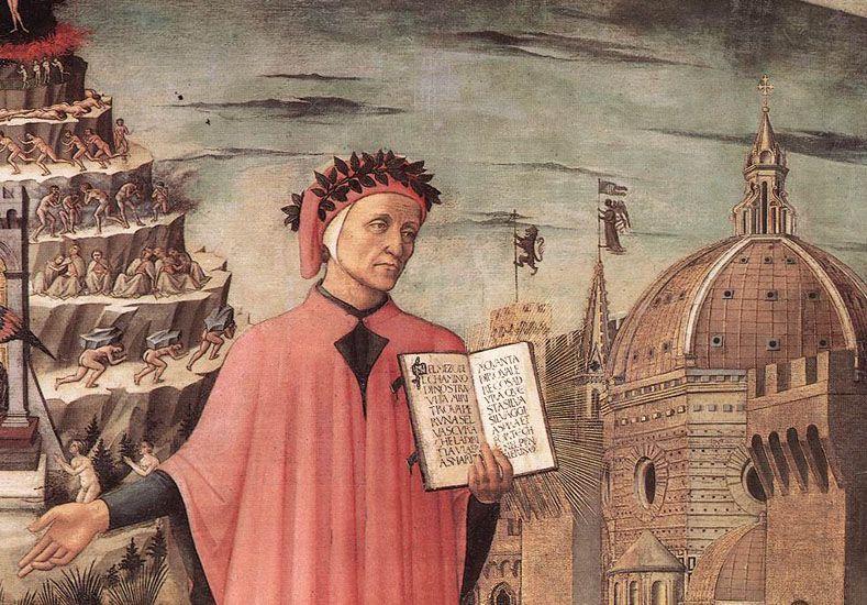 Exiliado. Dante Alighieri murió en el destierro