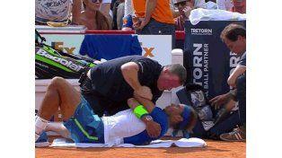 Alerta: Nadal sufrió taquicardia mientras jugaba en Hamburgo