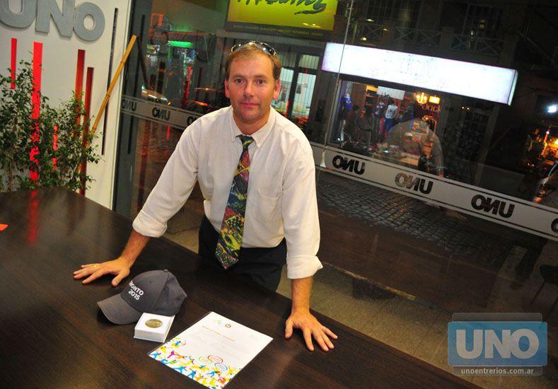 Nasser pasó por Diario UNO y mostró sus pergaminos.   Foto UNO/Juan Manuel Hernández