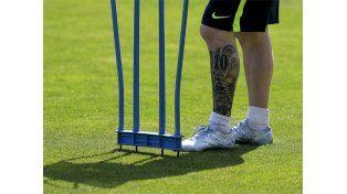 Messi se pone a punto… con un compañerito especial