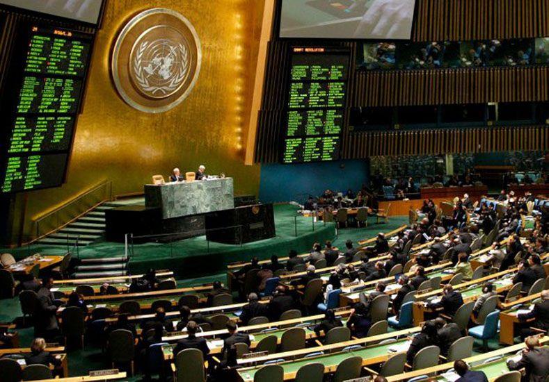 Asamblea General. En setiembre se podría estar votando esta iniciativa en el plenario de la ONU.  Foto: AP