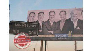 Cartelería. Rostros talenses sonríen en las calles de Crespo.