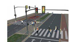 Idea.  Las calles con medianas vegetales son barreras que sirven para ordenar el tránsito.