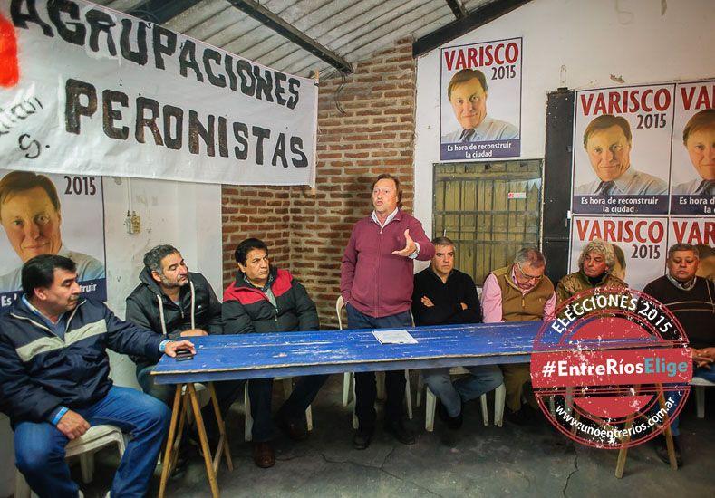 Varisco. En anteriores elecciones ya tuvo adhesión de peronistas.