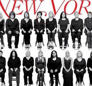 Muchas de las mujeres que ilustran la portada callaron los presuntos hechos durante años.