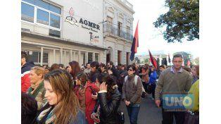 A la calle. Docentes convocaron a movilizarse a la Casa Gris. Foto UNO/Archivo ilustrativa
