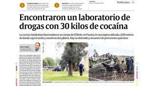 tragedia aérea. El accidente fatal que se cobró dos víctimas dejó al descubierto una organización ilegal que se dedicaba a la fabricación de droga