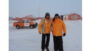 Una gran experiencia. El padre González y De Rossi llegaron con -39ª de sensación térmica.
