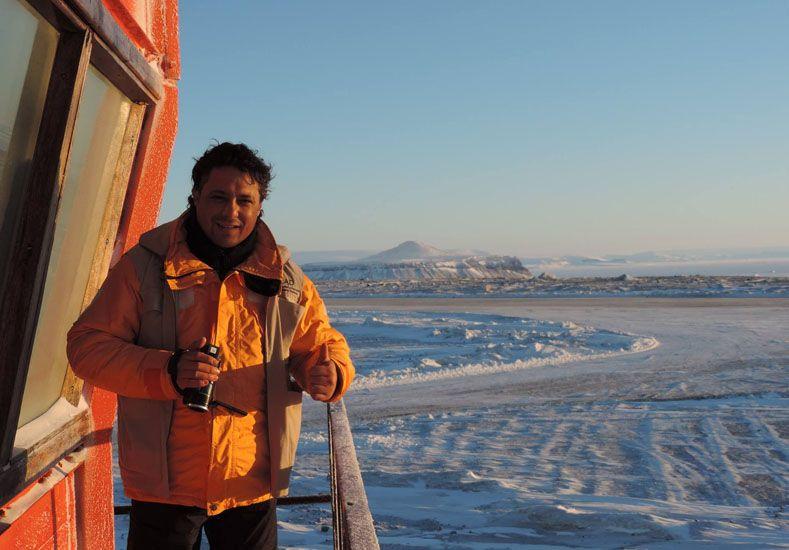 Continente Blanco. El periodista de Tala se encargó de documentar la visita.