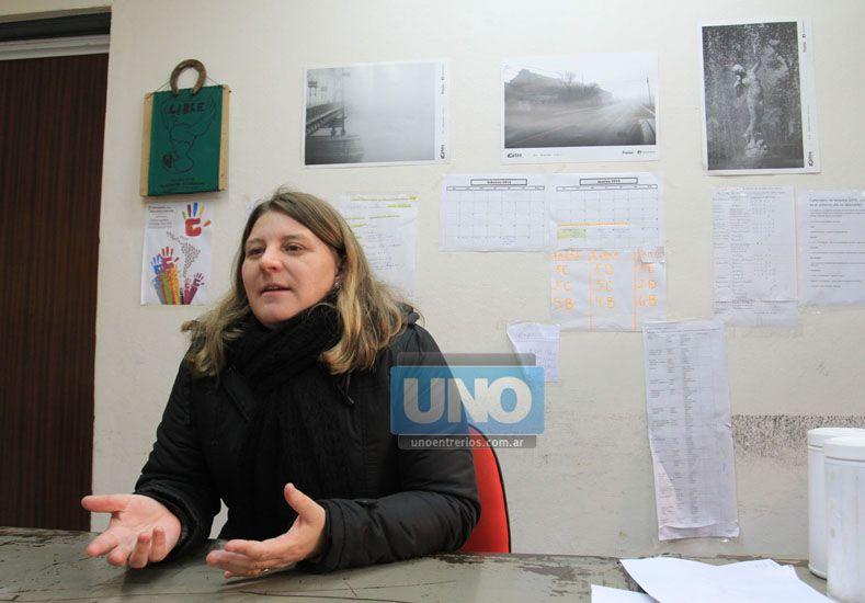 Compromiso. La rectora Claudia Geist dijo que abordarán la problemática con alumnos y docentes. (Foto UNO/Juan Ignacio Pereira)