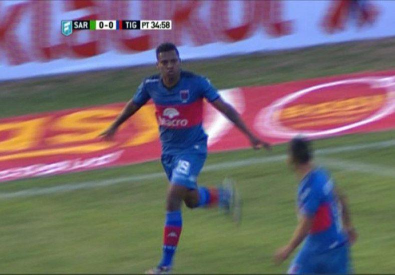 Rincón marcó el gol de Tigre