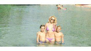 Britney y sus hijos en playas de Hawai.