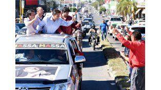 Massa pasó por Concordia y apuntó contra Scioli y Macri