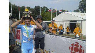 El ciclista entrerriano terminó segundo en mountain bike.