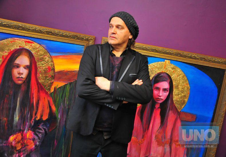 """Definición. El artista señala que su obra se enmarca en un """"prerrafaelismo latinoamericano"""".  Foto UNO/Juan Manuel Hernández"""