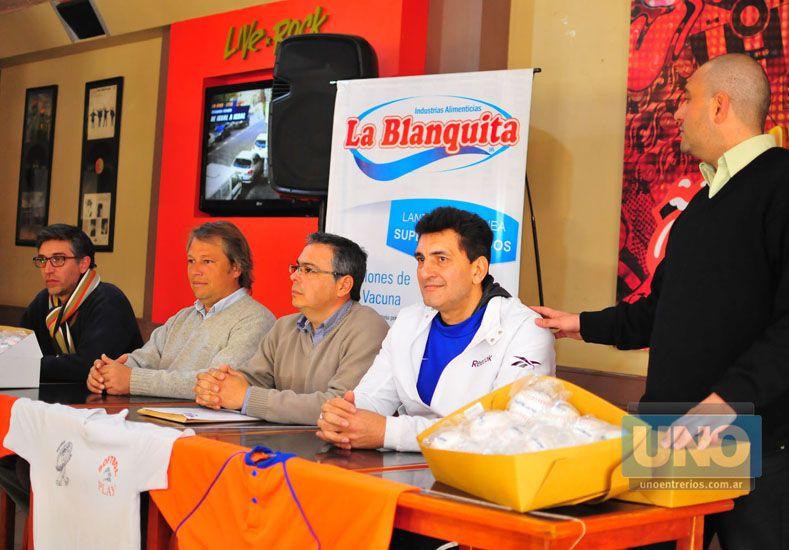 Ayer fue la rueda de prensa que contó con la presencia de autoridades gubernamentales y dirigentes. Foto UNO/Juan Manuel Hernández