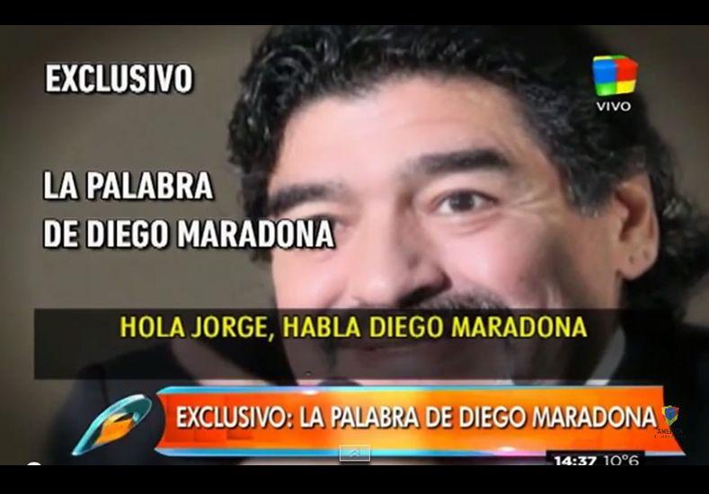 """Habló Maradona: """"Si no me devuelve mi plata, lo lamento por ellas"""