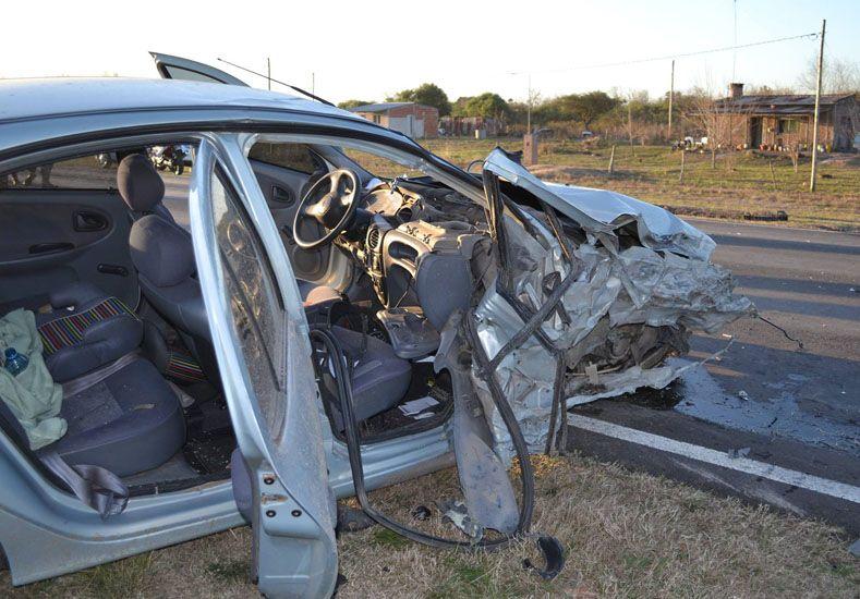 Triple choque en la ruta 39 dejó como saldo una persona gravemente herida