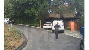 La policía en la casa de Demi Moore
