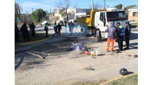 El accidente ocurrió este jueves por la mañana. (Foto UNO/Juan Ignacio Pereira)