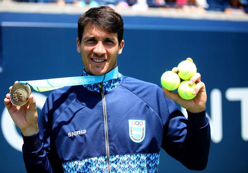 El rosarino se quedó con la medalla tras ganar la final.  Foto: Télam