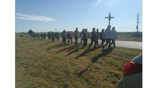 Peregrinos. Desde Paraná partieron el lunes 46 personas.