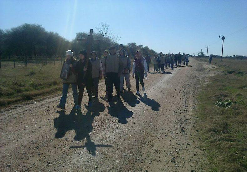 Caminaron 110 kilómetros hasta Nogoyá