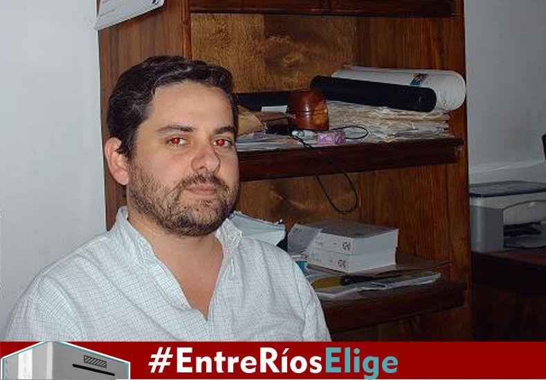 Navarro. Uno de los candidatos a diputados de Nogoyá en UNA.