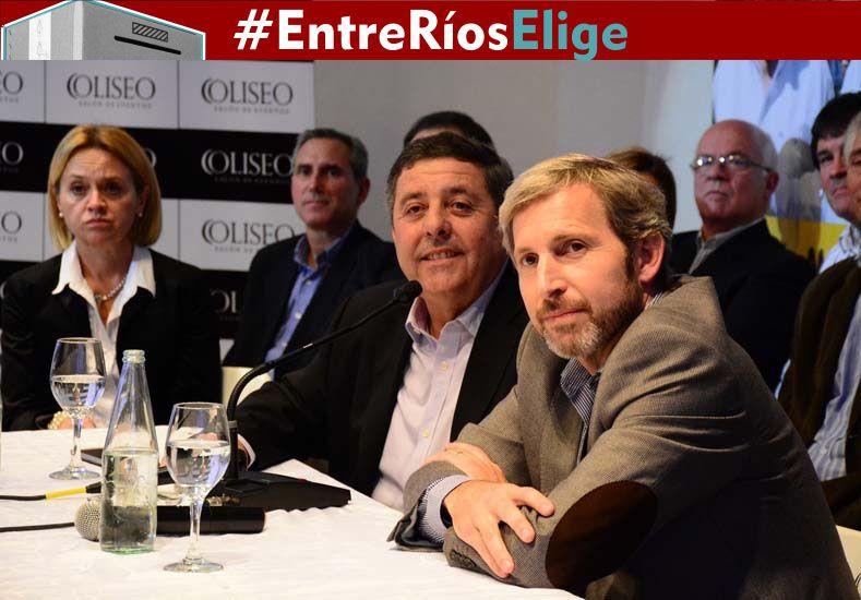Escaso protagonismo de De Ángeli en la presentación de candidatos de Paraná Campaña