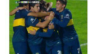 Boca le ganó a Sarmiento y quedó como único puntero