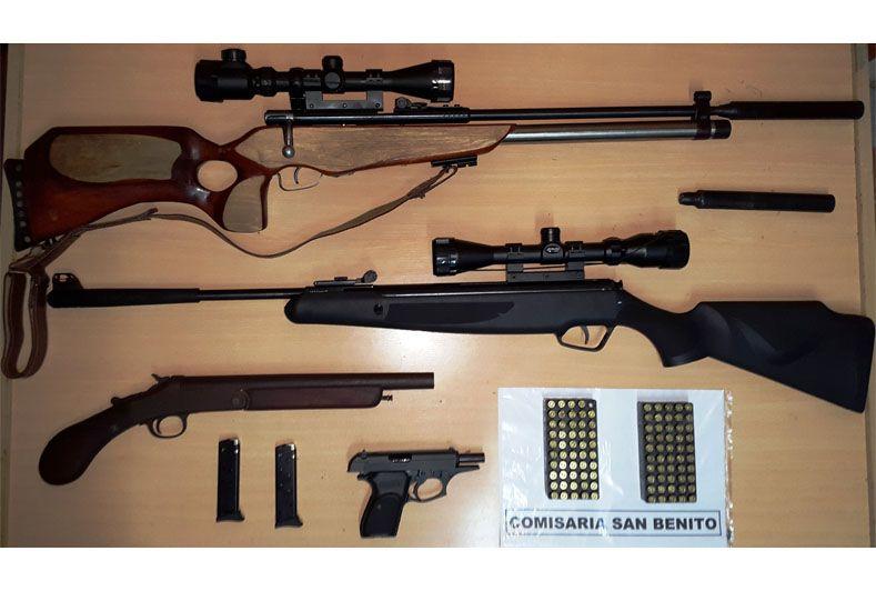 San Benito: Encontraron un arsenal durante un allanamiento