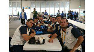 El plantel de sóftbol tiene 13 jugadores y el entrenador de Entre Ríos. Ayer en la Villa.