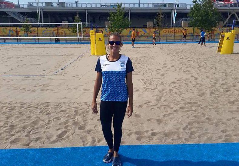 ANITA. La jugadora de beach volley de Nogoyá Ana Galley